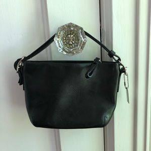Mini Black leather coach handbag